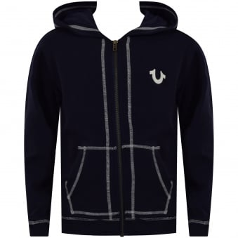 True Religion Junior Navy Crafted with Pride Zip Through Hoodie