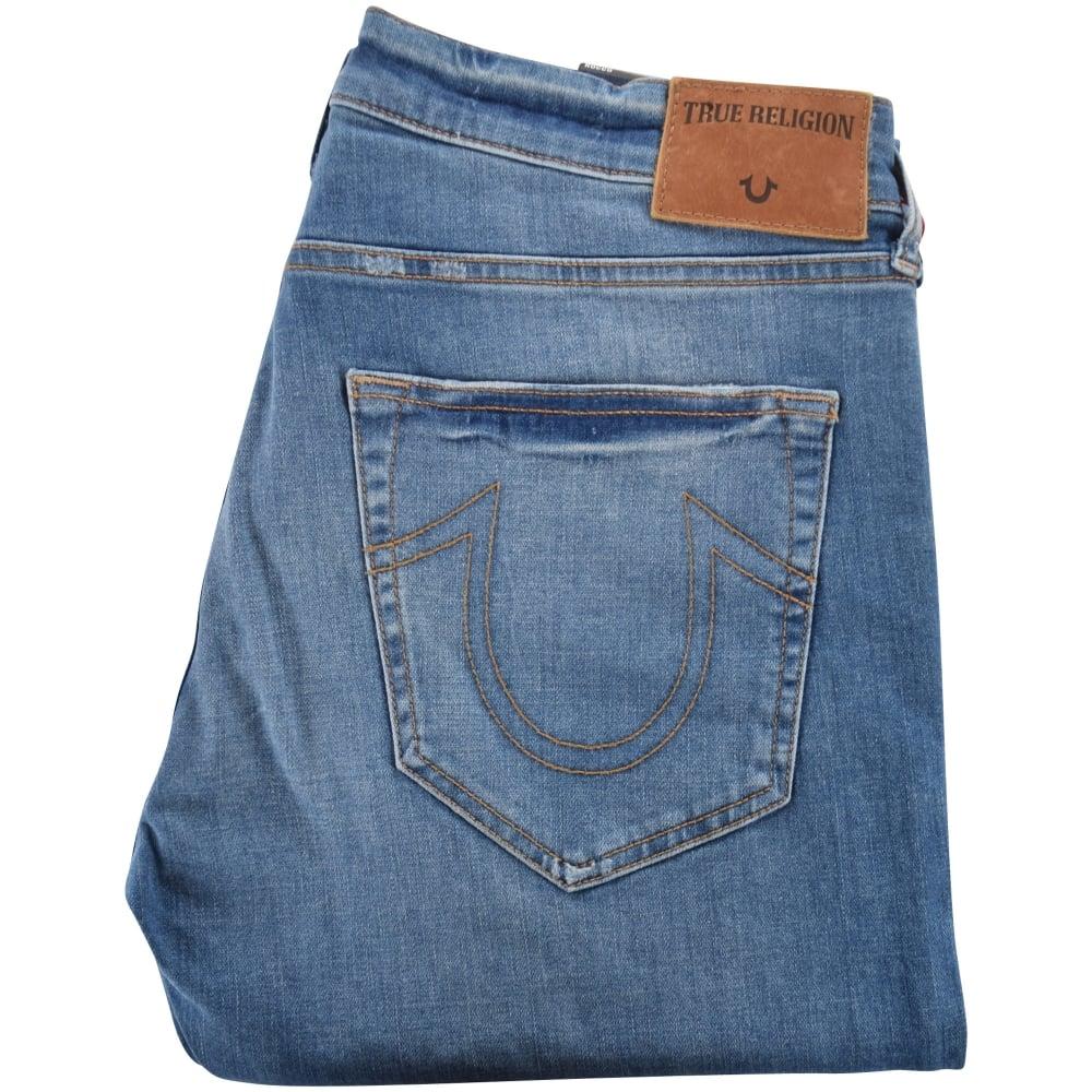 833e24c08e TRUE RELIGION True Religion Lapis Blue Rocco Relaxed Skinny Jeans ...