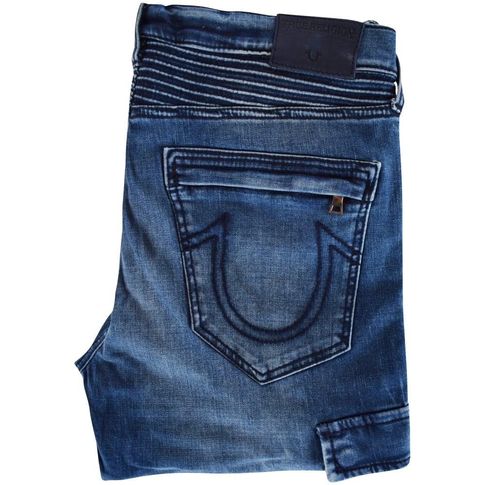 1d5abf9d8361 TRUE RELIGION True Religion Mid Wash Cargo Biker Skinny Jeans - Men ...