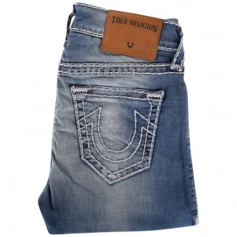 True Religion Mid Wash Rocco Relaxed Skinny Fit Jeans