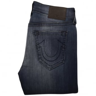 True Religion Mid Wash Rocco Skinny Jeans