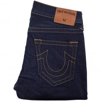 True Religion Midnight Denim Rocco Relaxed Skinny Jeans