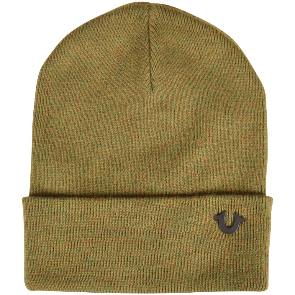 48d5bb8f1c7d8 TRUE RELIGION True Religion Military Green Beanie Hat - Men from ...