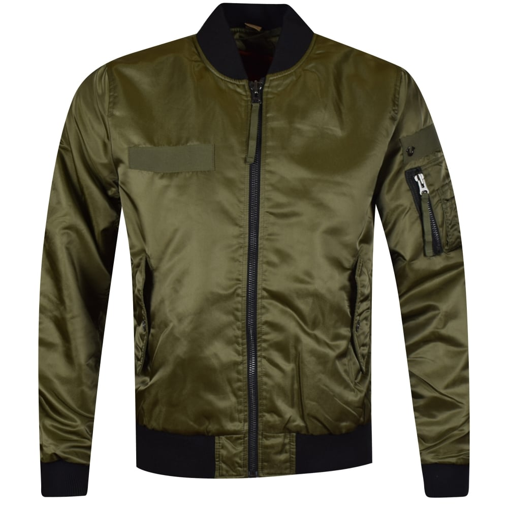 true religion true religion moss green bomber jacket men from brother2brother uk. Black Bedroom Furniture Sets. Home Design Ideas