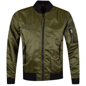 True Religion Moss Green Bomber Jacket