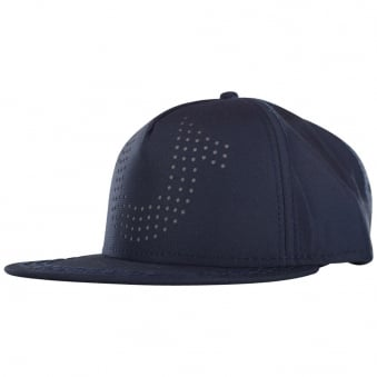 True Religion Navy Hoof Perforated Strapback Cap