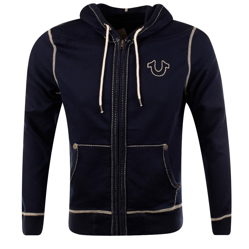 true religion true religion navy horse shoe stitch hoodie men from brother2brother uk. Black Bedroom Furniture Sets. Home Design Ideas