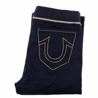True Religion Navy Horseshoe Wide Leg Sweatpants