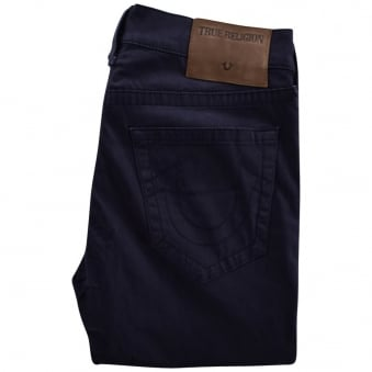 True Religion Navy Rocco Relaxed Chino Trousers