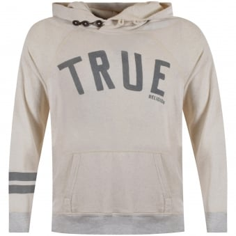 True Religion Oatmeal logo Pullover Hoodie