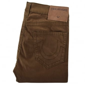 True Religion Olive Rocco Relaxed Chino Trousers