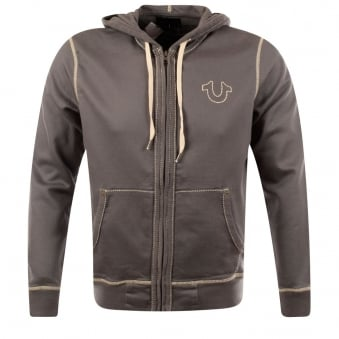 True Religion Pavement Big T Stitch Hoodie