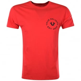 True Religion Red Crafted With Pride T-Shirt