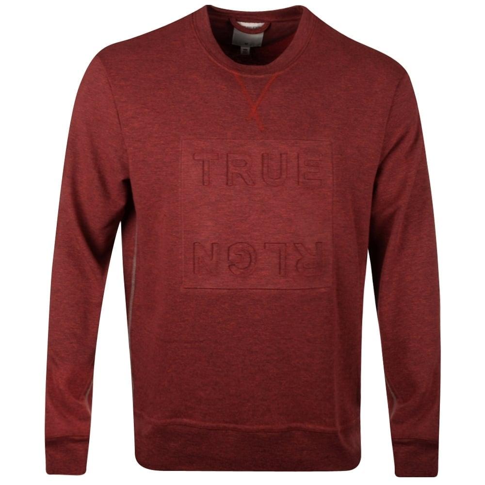 257e14340 TRUE RELIGION True Religion Red Double Knit Sweatshirt - Department ...