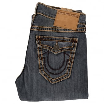 True Religion Relaxed Slim Geno With Flap Jeans