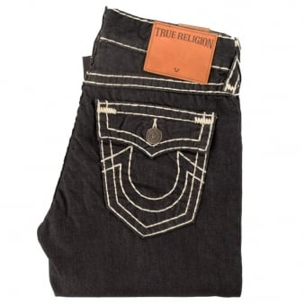True Religion Ricky Relaxed Straight Fit Dark Navy Rinse Jeans
