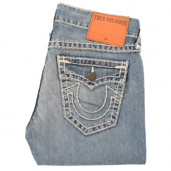 True Religion Ricky Relaxed Straight Fit Light Wash Jeans