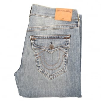 True Religion Ricky Straight Fit Light Wash Jeans