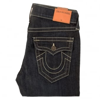 True Religion Rocco Relaxed Skinny/Slim Fit Dark Wash Jeans