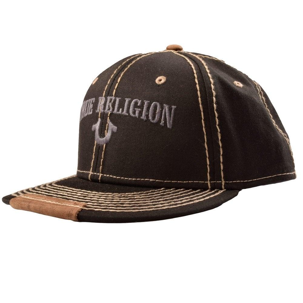 true religion tr1838 true religion black grey stitch snap back cap true religion from. Black Bedroom Furniture Sets. Home Design Ideas