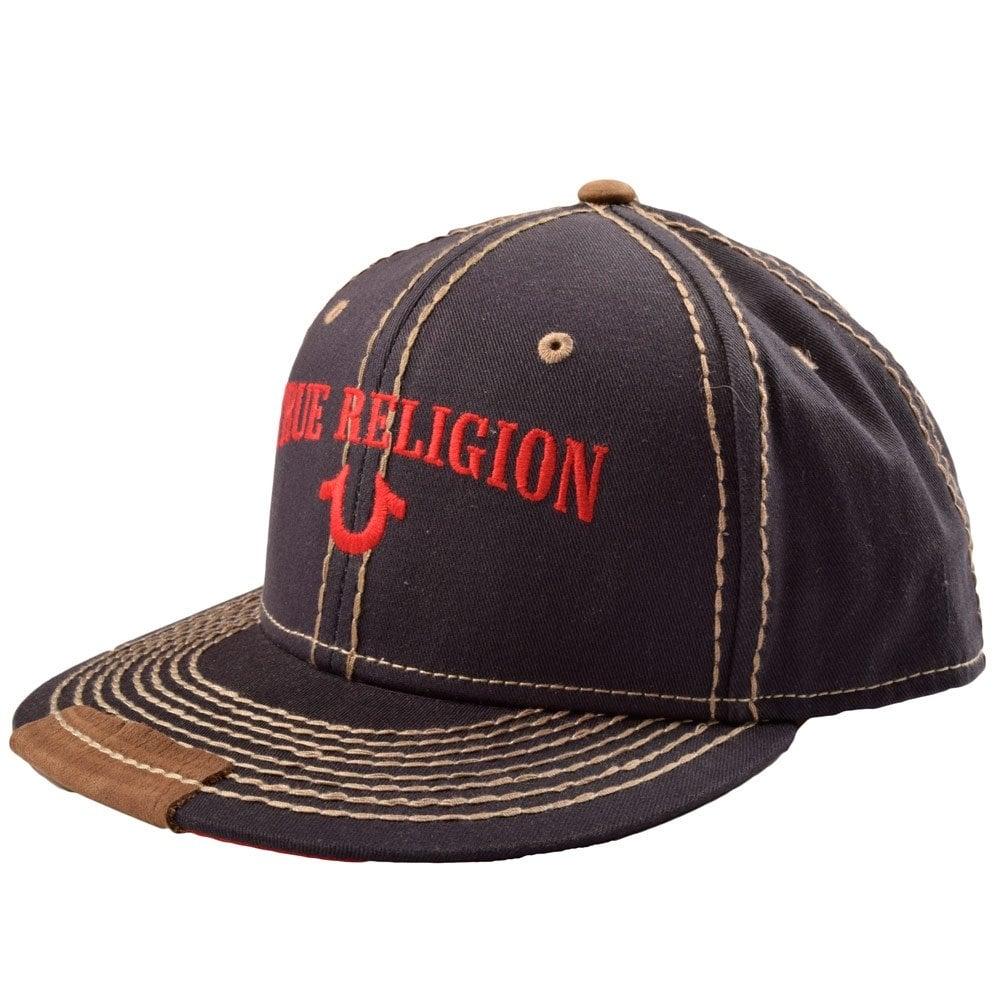 true religion tr1838 true religion navy grey stitch snap back cap true religion from. Black Bedroom Furniture Sets. Home Design Ideas