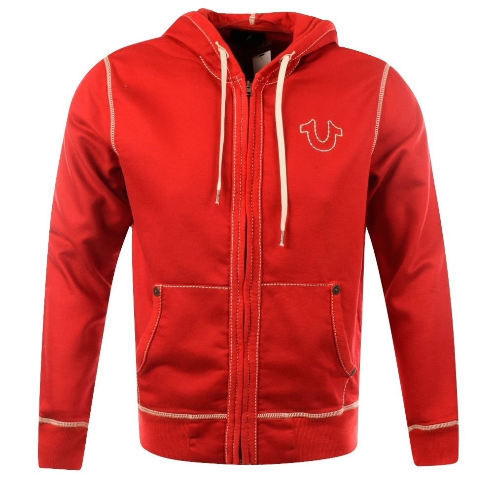 012c2603822 True Red Big T Stitch Hoodie