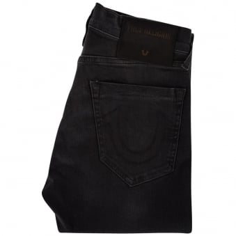 True Religion Black Destroyed Rocco Skinny Fit Jeans