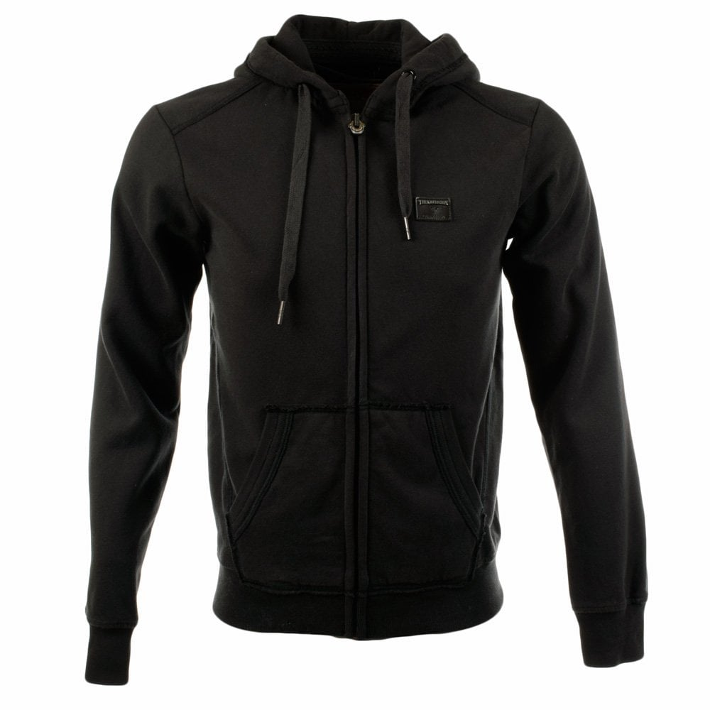 true religion true religion black zip through hoodie men from brother2brother uk. Black Bedroom Furniture Sets. Home Design Ideas