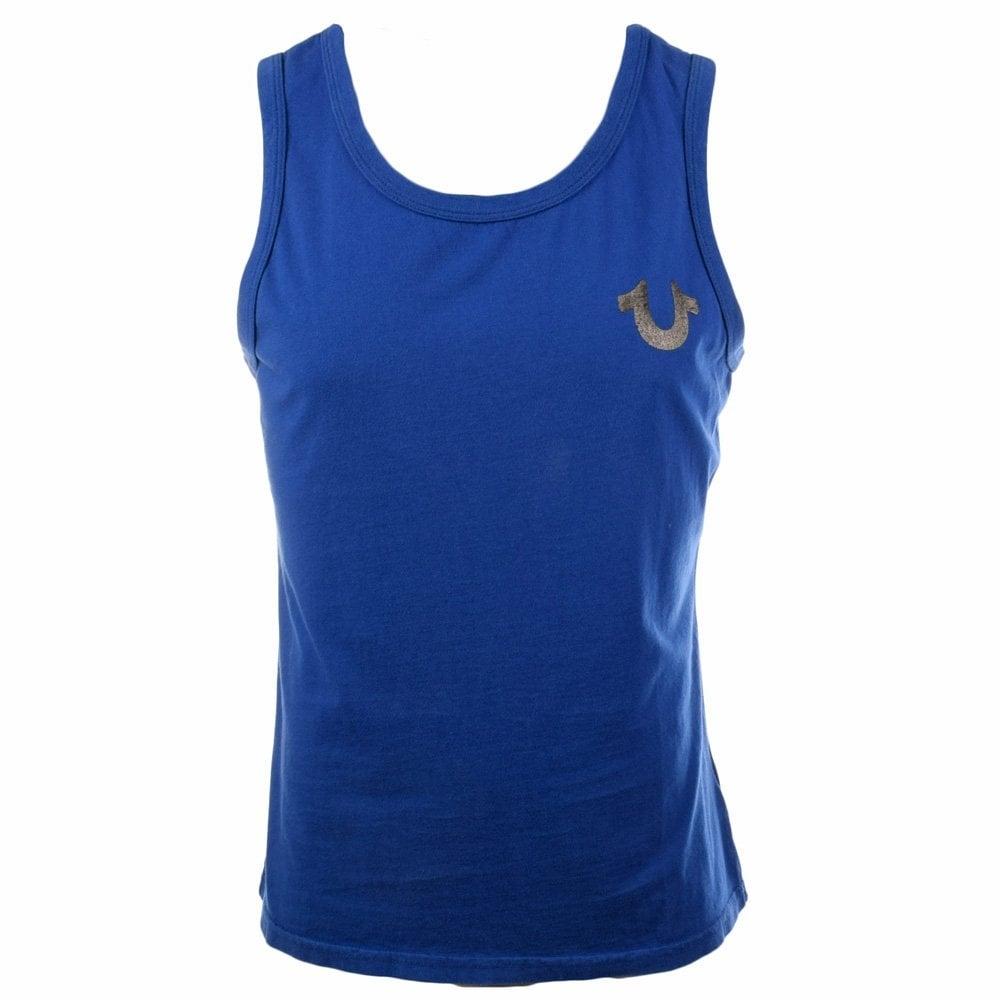 true religion true religion blue sleeveless vest true