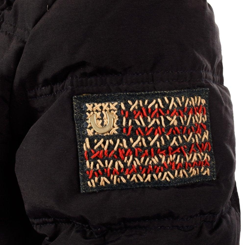 true religion true religion navy down jacket true religion from. Black Bedroom Furniture Sets. Home Design Ideas