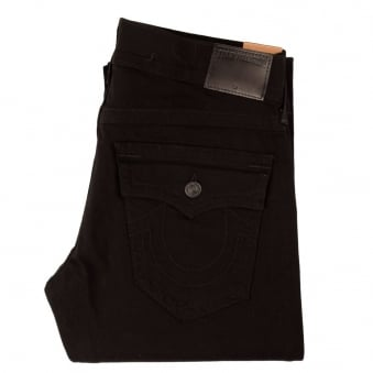 True Religion Ricky Relaxed Straight Fit Black Jeans