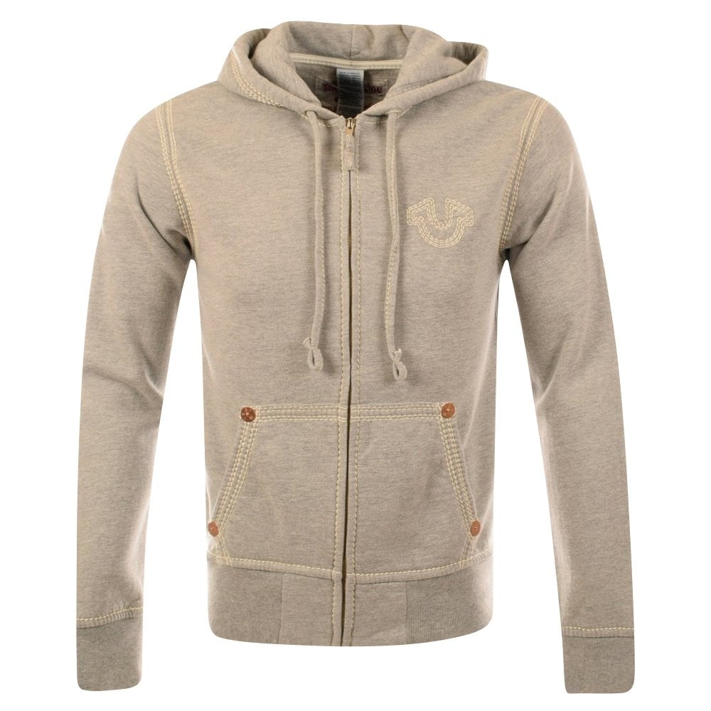 true religion true religon heather grey zip through hoodie true religion from brother2brother uk. Black Bedroom Furniture Sets. Home Design Ideas