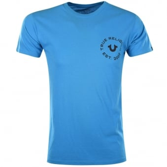 True Religion Turquoise Crafted With Pride T-Shirt