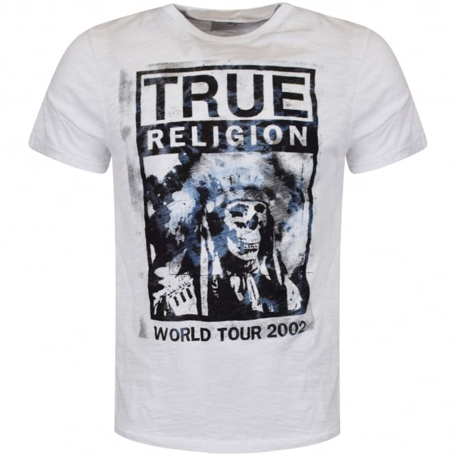 TRUE RELIGION White/Blue Headdress Tee