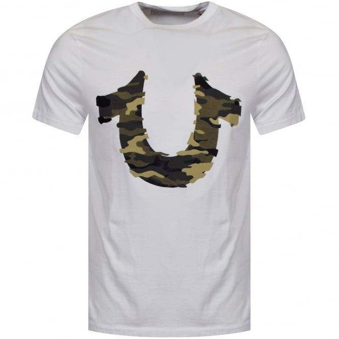 251fdcca TRUE RELIGION True Religion White/Camo Horseshoe Logo T-Shirt ...