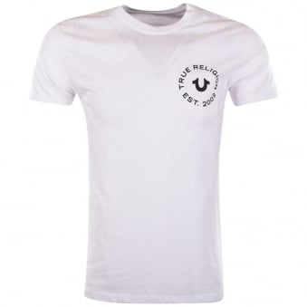 True Religion White Crafted With Pride T-Shirt