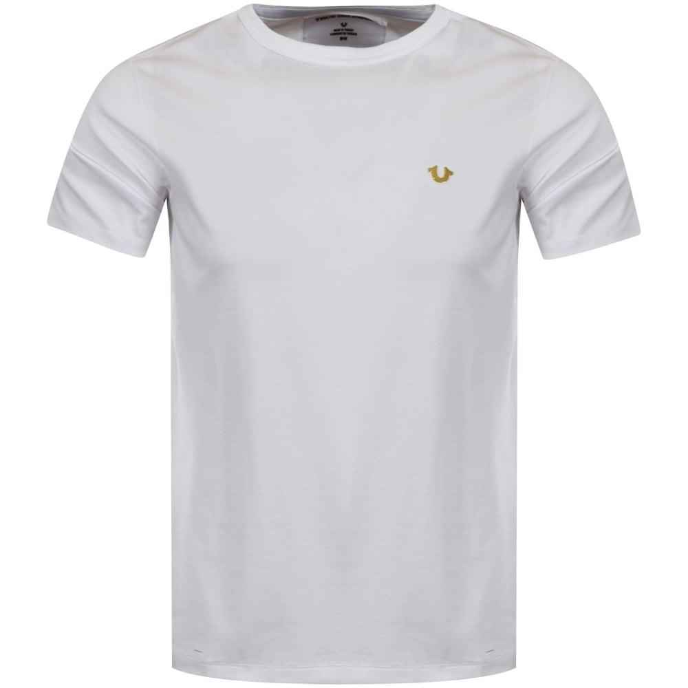 8f395452d57 TRUE RELIGION True Religion White Metal Logo T-Shirt - Men from ...