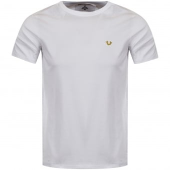 True Religion White Metal Logo T-Shirt