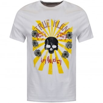 True Religion White Rising Sun Graphic Tee
