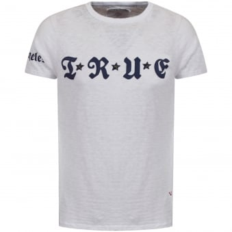 True Religion White Star Logo T-Shirt