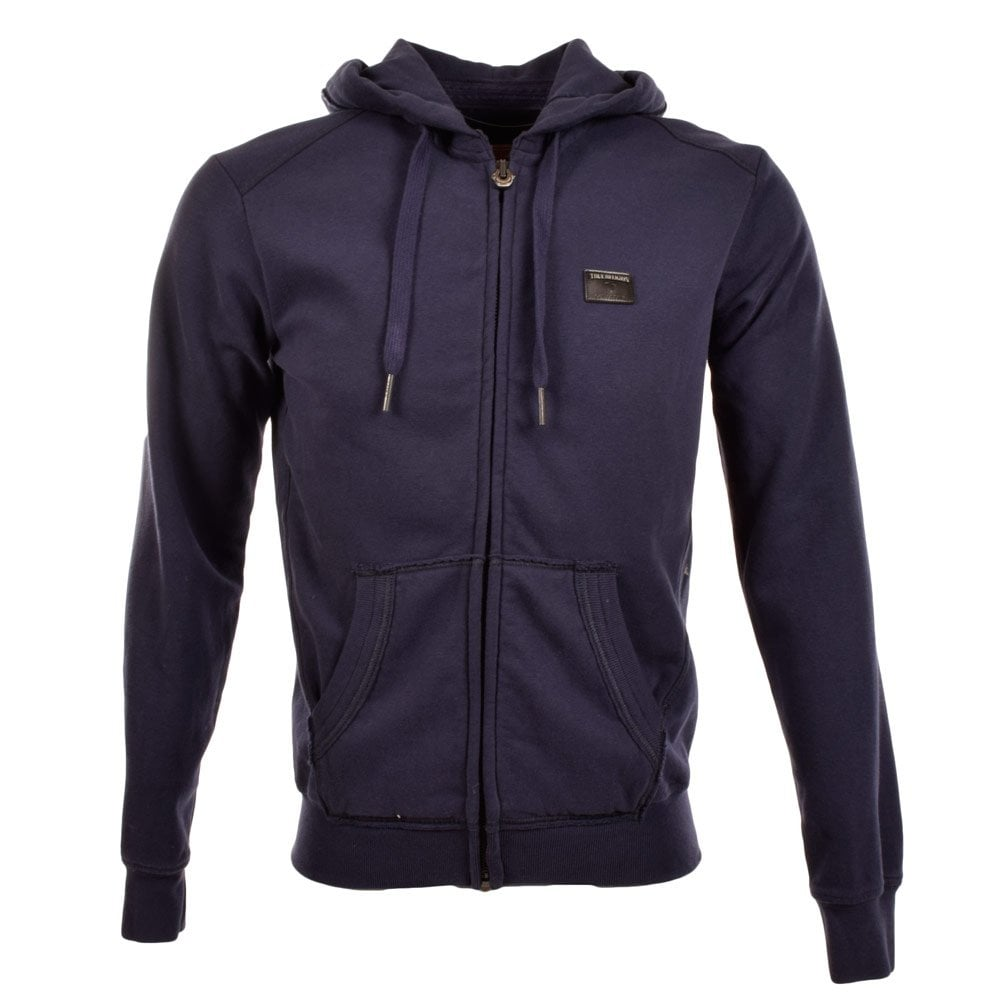 true religion zip through navy hoodie men from brother2brother uk. Black Bedroom Furniture Sets. Home Design Ideas