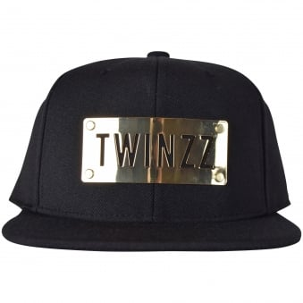 Twinzz Black/Gold Plated Snapback Cap