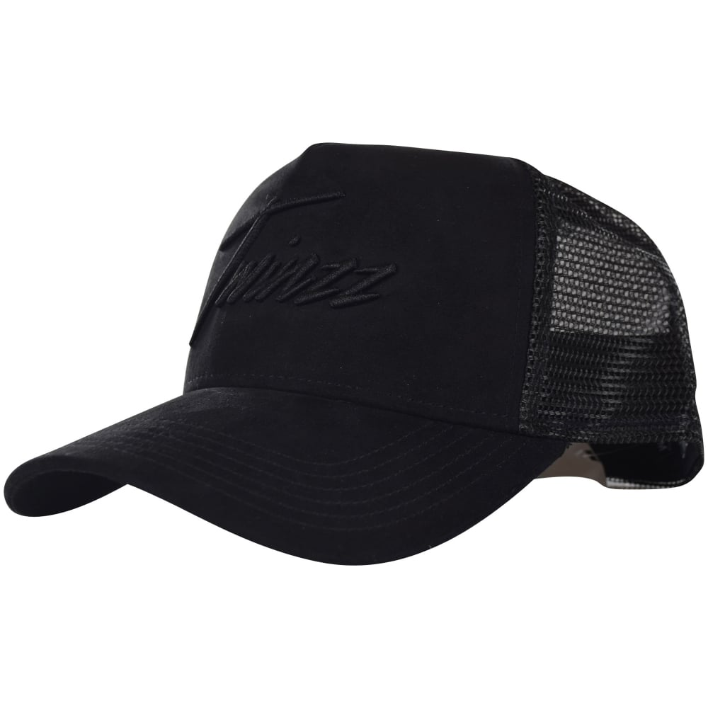 e7d0127abe9 TWINZZ Twinzz Black Suede Logo Mesh Trucker Cap - Men from ...