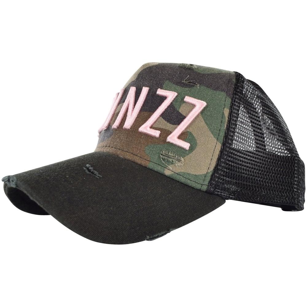 bd2988586a7 TWINZZ Twinzz Camo Black Pink Distressed Mesh Trucker Cap - Men from ...