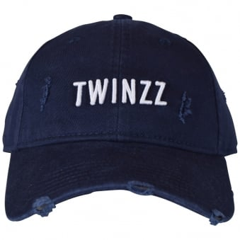 Twinzz Navy/White Distressed Baseball Cap