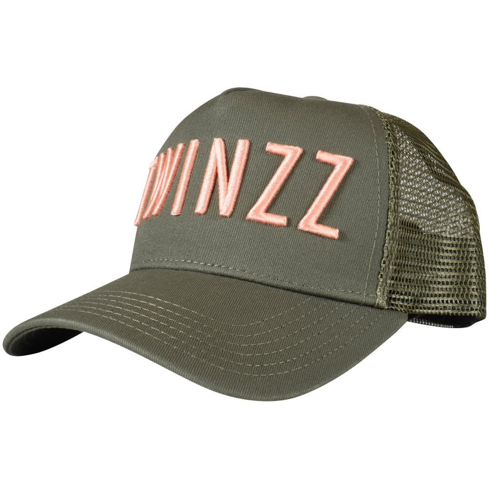 TWINZZ Olive   Coral Mesh Trucker Cap - Men from Brother2Brother UK 11d64e8923b