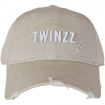Twinzz Stone/White Distressed Baseball Cap
