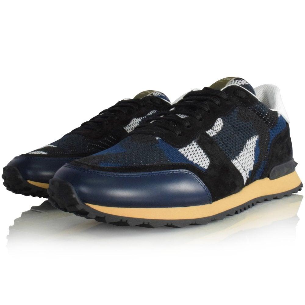 blue camo valentino trainers