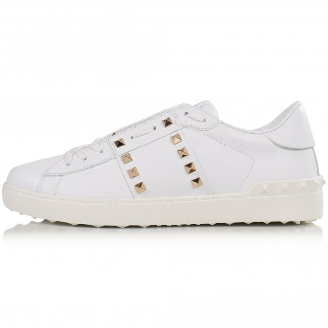 VALENTINO Rockstud Untitled White Trainers Side