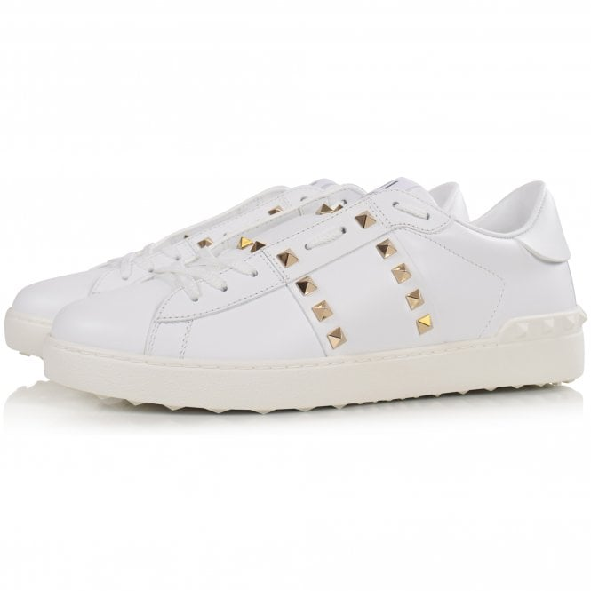 VALENTINO Rockstud Untitled White Trainers Front